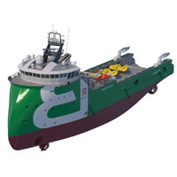 3d anchor handling tug supply vessel model