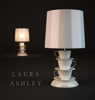 3d table lamp laura ashley model