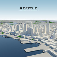 seattle cityscape 3d model