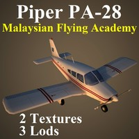 3d model of piper cherokee mfa