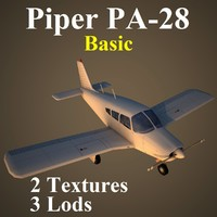 piper cherokee basic 3d max