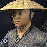 character animations samurai 3d model