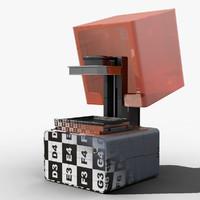 form 1 printer 3d model