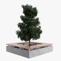 3d bench tree
