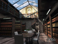 library interior 3D models