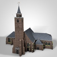 church rijnsburg 3d c4d