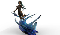 maiden goddess water 3d fbx