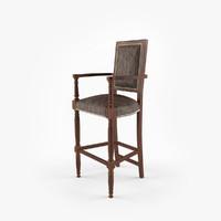 convergent bar stool 3d max