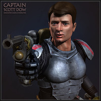 captain scott dow character 3d model