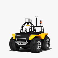 grizzly robotic utility vehicle 3d max