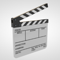 3d clapboard clapperboard