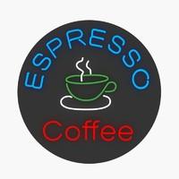 3d model neon sign espresso