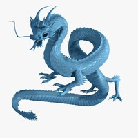 3d model asian dragon