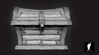 3d model zbrush treasure chest