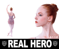 3d model real people ballerina