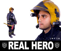 firefighter real people 3d model