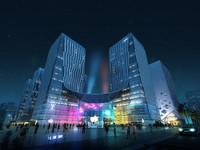 3dsmax city shopping mall
