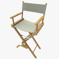 3d model of directors chair