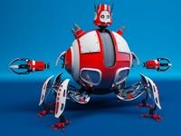3d robot d09e model