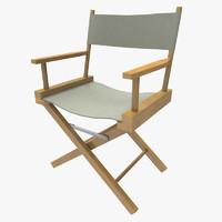 3d directors chair model