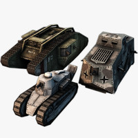 3ds max world war tank