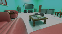 3d model sitting room scene realistic