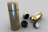 3d model thermos bottle container
