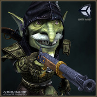goblin bandit character animations 3d model