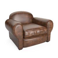 normandy club chair 3d max