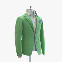 max women green suit domenico