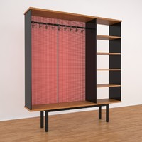 3ds max room divider jean prouve