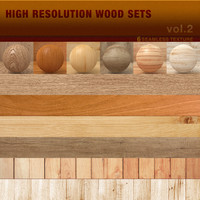 High Resolution Wood Texture Sets vol.2