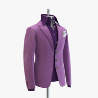 women purple suit domenico 3d max