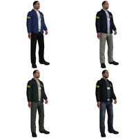 3d model rigged fbi agent