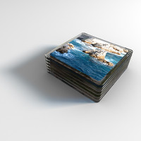 set glass coasters photo 3d model