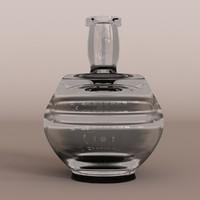 3d model glass vase