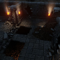 grim bear dungeon building 3d fbx