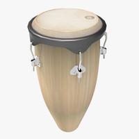 conga drum 3d model