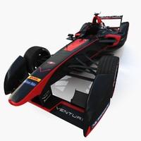 venturi formula e 3d model