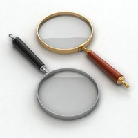 3d model magnifier glass
