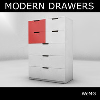 3d 3ds modern drawers