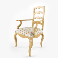 3d century chair ladderback arm model