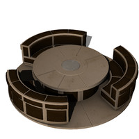 scifi seating 3d model