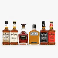 3d model jack daniel s bottles