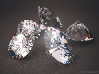 3d photorealistic diamond realistic