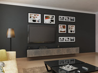 modern living room 3d obj