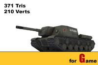 3d ww ii soviet tank model