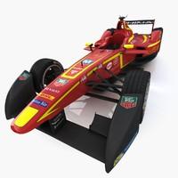 team china formula e 3d max