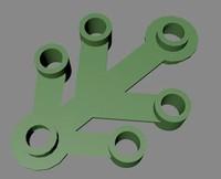 3d lego leaf