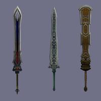 staff sword cartoon 3d model